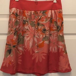Pink floral skirt by The Limited, small, vguc